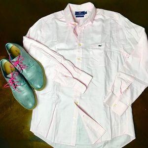 Vineyard Vines Men's Light Pink Shirt